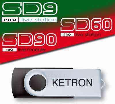 Pendrive usb Ketron Audya SD9 SD60 SD90 Styles